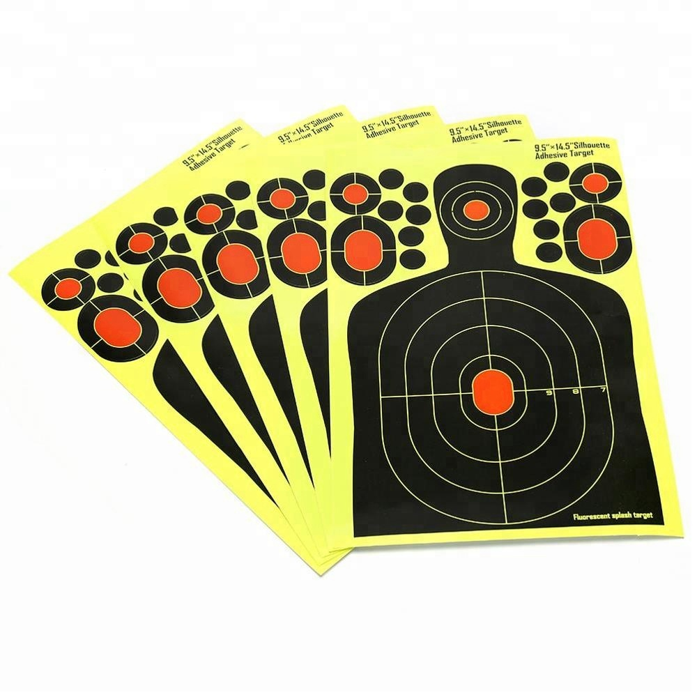 5ps Sports Shooting Targets Paper Reactive Splatter Fluorescent Adhesive Hunting