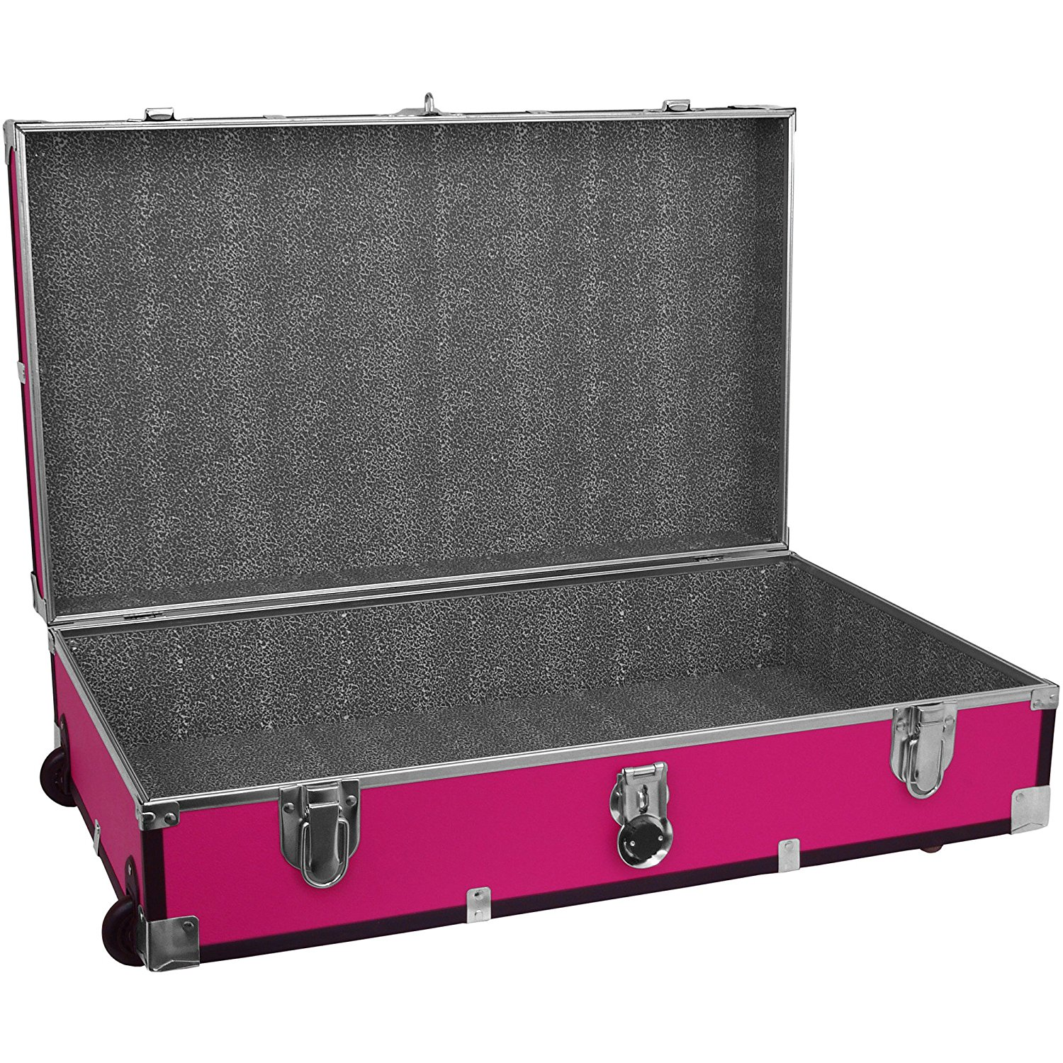 Get Quotations Trunk Under Bed Wheeled Storage Footlocker 19 Galones Wood Box With Handle Durable
