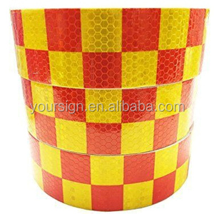 checkered reflective tape,reflective chequer tape 50mm wide,high intensity reflective chequer tape vinyl roll