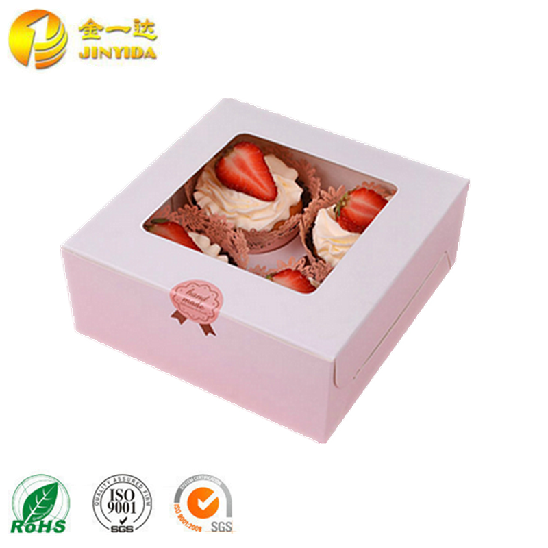 2017 cake pop boxes wholesale with clear window mini cake boxes