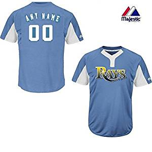 87889a0e1ac Get Quotations · Lt Blue White 2-Button Cool-Base Tampa Bay Rays Blank or  CUSTOM