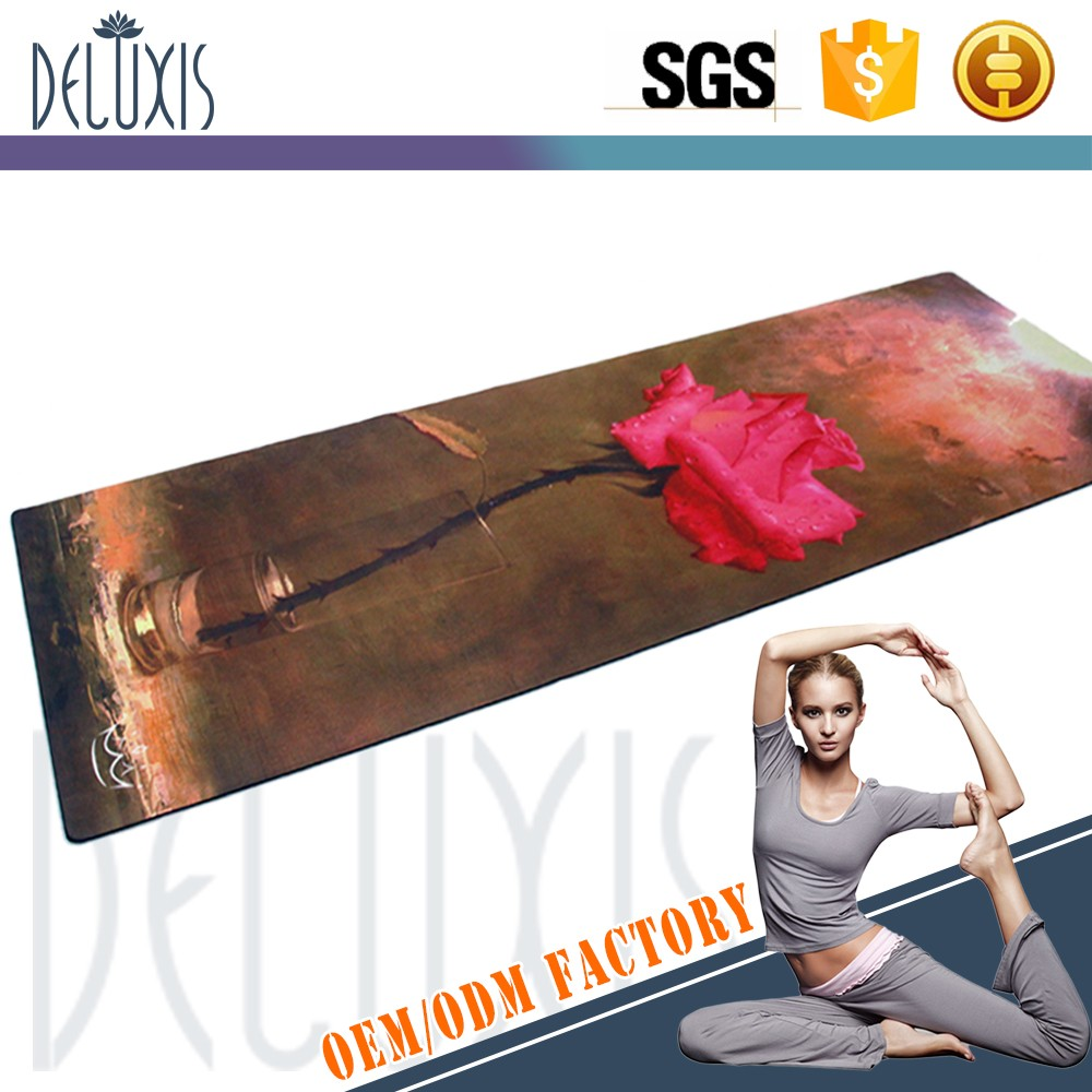 Commercio all'ingrosso 2017 new trend popolare personalizzata digital stampato sughero naturale yoga mat private label