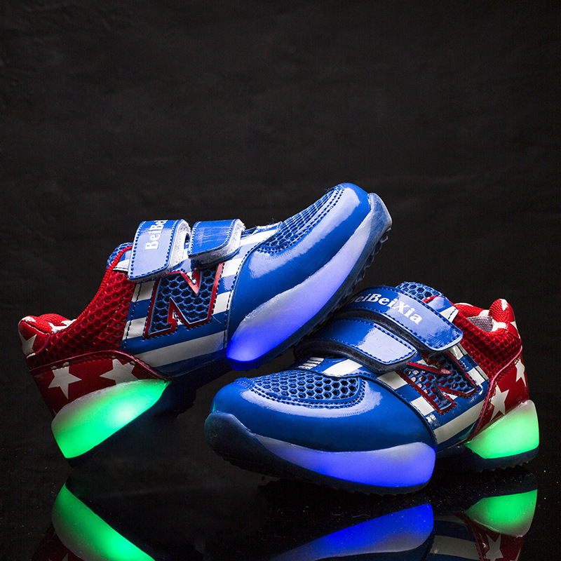Hot Sale 2015 New Brand Children Luminous Shoes Kids Baby
