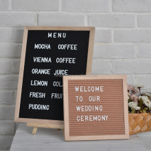 Wooden felt letter board with 290 plastic letters for USA Amazon