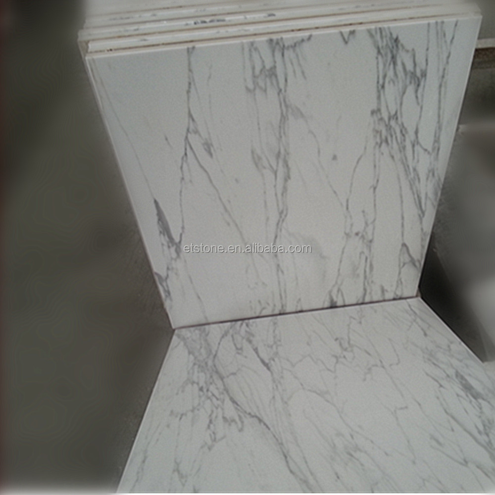 Crystal Composition Calacatta White Marble Tile,Composite Marble ...