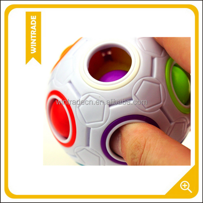 2017 New Speed Magic Ball Cube 2.5 inches Rainbow Fidget Puzzle Ball Cube