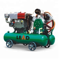 Low pressure 25hp 125 cfm 5bar 3 cylinder small diesel portable piston air compressor for drilling rig W-3.5/5