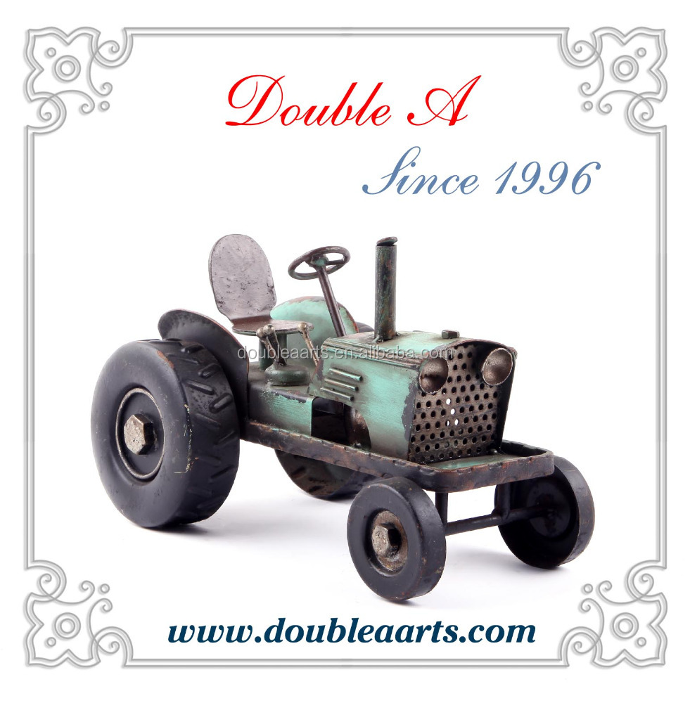 Metal tractor truck model hand made home decorative products iron craft car collection