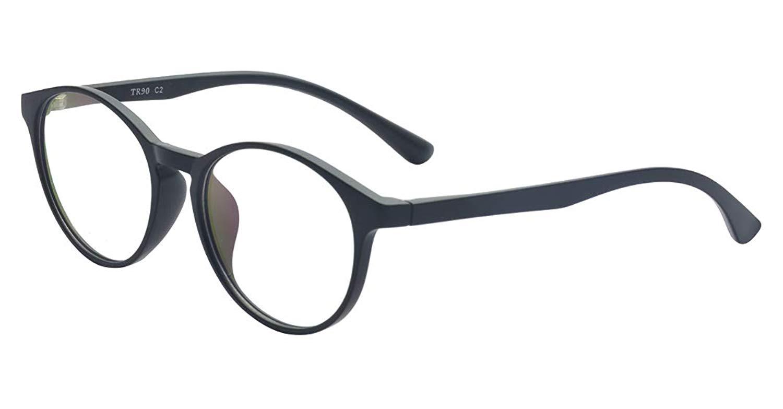 ALWAYSUV Black Round TR90 Full Frame Nearsighted Myopia Shortsighted Glasses For Women/Men