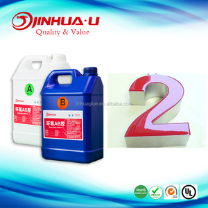 Jinhua Double Components Adhesives Hard Clear Epoxy Resin for Signage Making