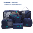 2018 New Arrive 7 Pieces Travel Organizer Bag Set Cubes Packing Bags