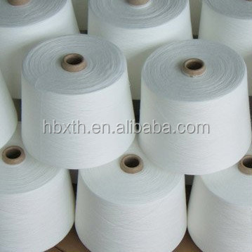 Raw white or dyed polyester chunky yarn for sewing factory price