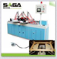 RF wood picture frame making machine without nails