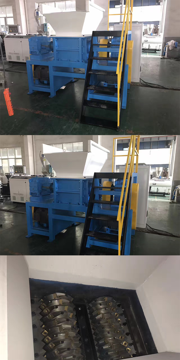 waste film and bags plastic double shaft shredder machine blades / woven bag shredder