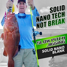 Goofish Solide Nano Blank Tech Slow Pitch <span class=keywords><strong>Jigging</strong></span> Stangen mit FUJI k-serie & A-ring PE 2 -4