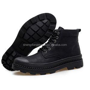 Latest casual fashion imitation leather china cheap boots men 2019