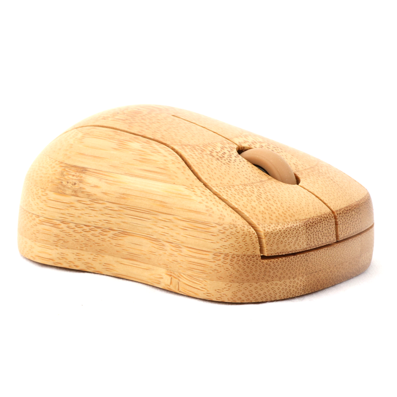 Wholesale Bamboo wooden unique hand made gift customized logo mouse, Natural bamboo