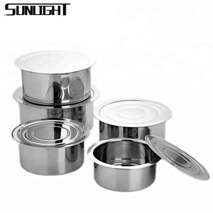410 stainless steel cooking pots set indian cooking utensils with lid