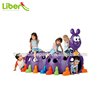 Brightly Colored Peek-A-Boo for Indoor and Outdoor Climbing Structure Caterpillar-shaped Play