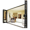 Competitive price how clean aluminum accordion images folding doors with dimensions