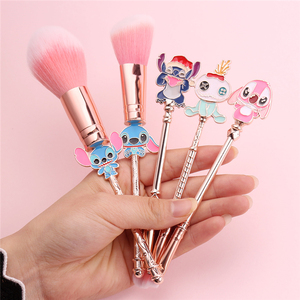 Cute Cartoon Beauty Make Up Brushes Tool Cosmetic Powder Eye Shadow Pincel Maquiagem Lilo and Stitch Makeup Brush Set