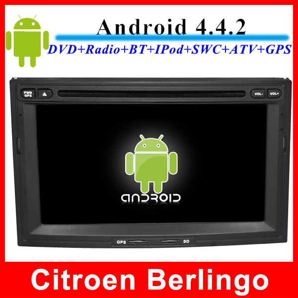 android 4 4 2 din touch screen car dvd for peugeot 3008 5008 citroen berlingo radio gps. Black Bedroom Furniture Sets. Home Design Ideas