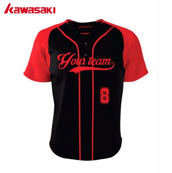 2018 New Design Custom Athletic Clothing Plus Size Sublimation Printed Baseball Jersey Uniform