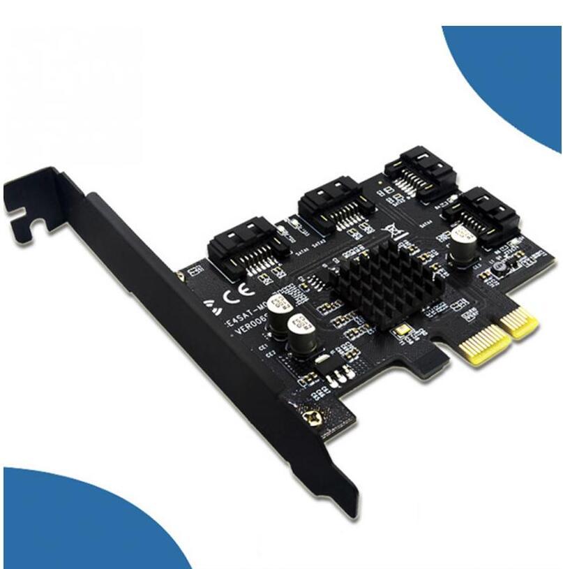 CY PCI-E to 4 Ports SATA 3.0 ESATA PCIE SATA3 6Gbps PCI-E Adapter Expansion Card