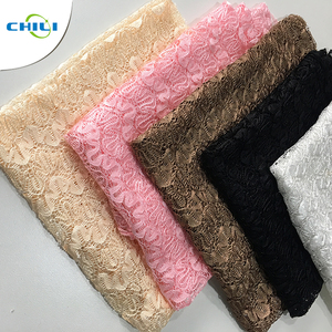 Wholesale Hot sale Cheap 100% Polyester knitted mesh lace cloth fabric
