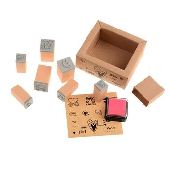 latest product factory directly wooden stamp set