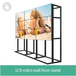 Bonne qualité avec le meilleur prix d'affichage à cristaux liquides de 46 pouces a mené le panneau de mur vidéo 3x4 pour la boîte de nuit fond