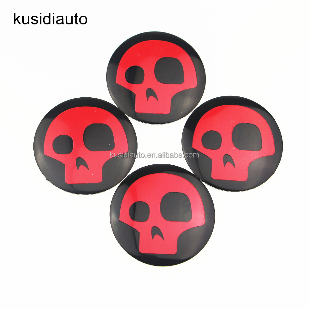 New Skull Punisher Sticker Wheel Center Hub Cap metal car sticker