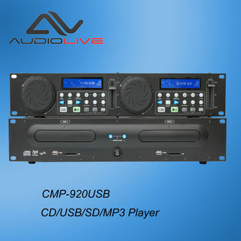 Manufacturer supply CE certificate popular professional 2 channel anti-shock dual CD usb sd mp3 digital player