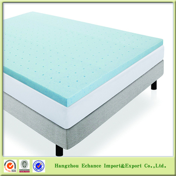 Cooling Gel Memory Foam Mattress Topper With Bamboo Cover Washable