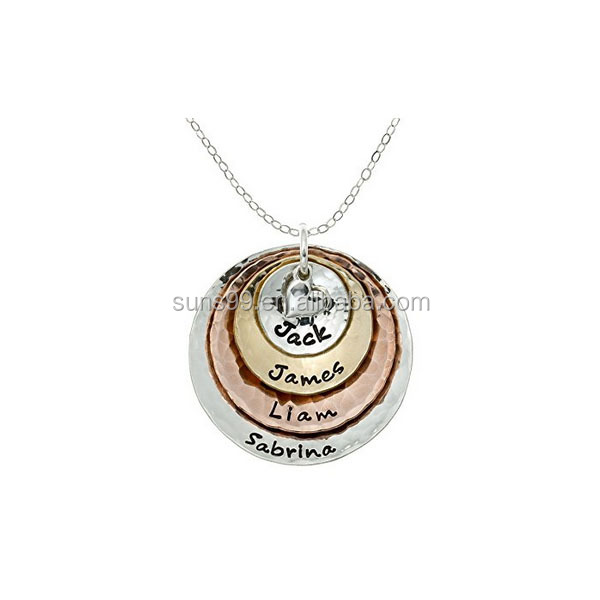 New Design My Four Treasures Personalized Necklace With 4 Customizable Discs In 14k Gold Plate And Rose Gold