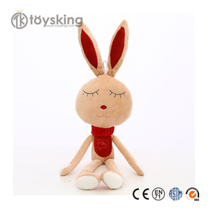 Hand Made High Quality Organic Cotton Bunny Rabbit Animals Stuffed Toys Customized for Kids from Factory Directly Sell