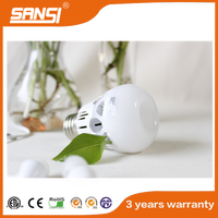 Plastic Ceramic bulb lighting 5W LED e27 day night light led bulb