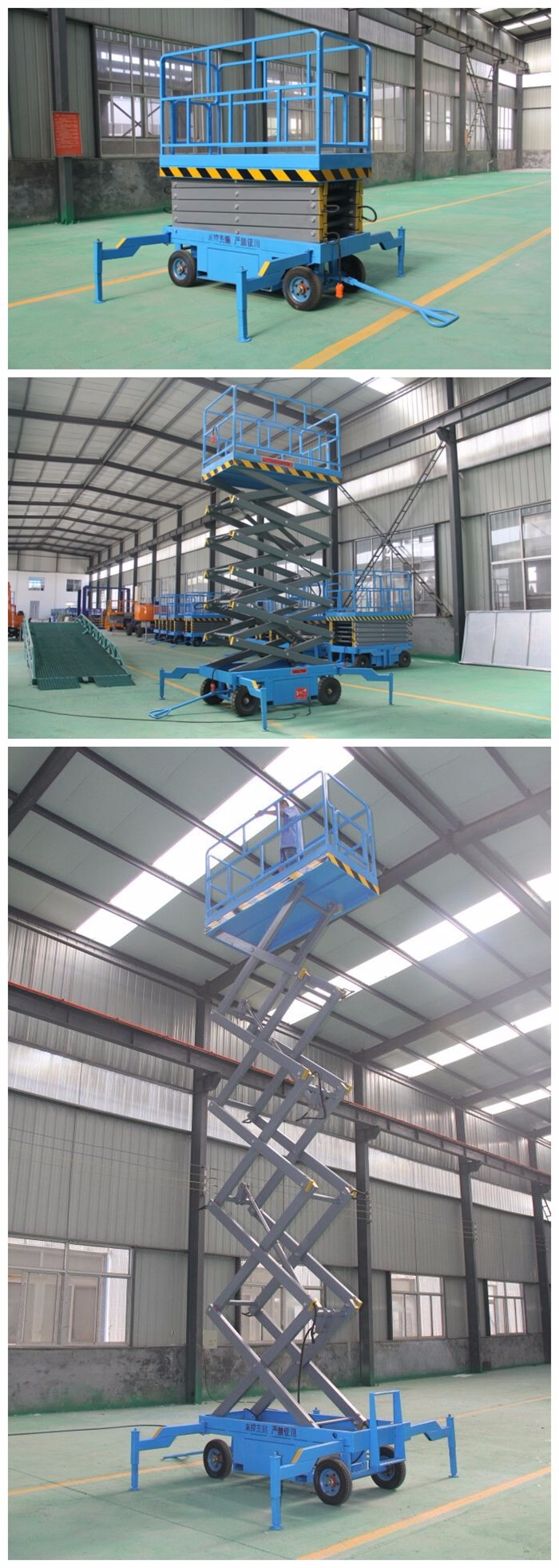 Scissor lifting table scissor type man lifts for aerial working