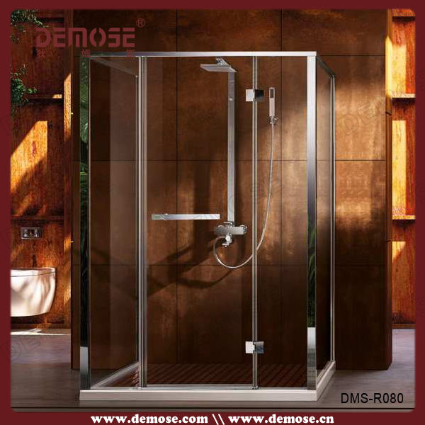 Hinge Tempered Glass Free Standing Shower Enclosure, Hinge Tempered ...