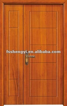 Simple exterior wooden double door designs buy front for Simple wooden front door designs
