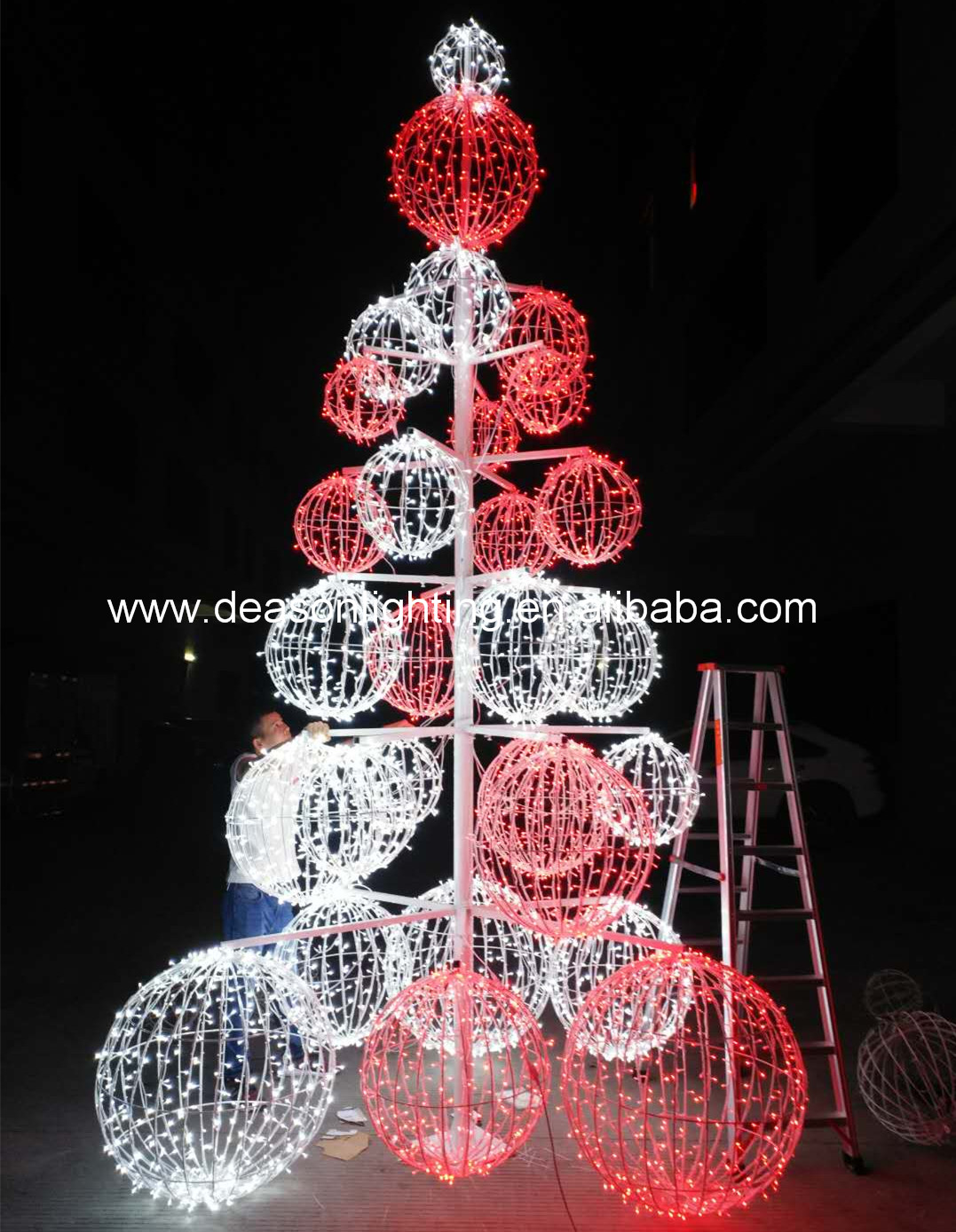 Waterproof giant LED ball tree 3d led outdoor christmas decoration View outdoor led christmas tree Deasonlighting Product Details from Shenzhen