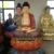 High Quality Painting Fiberglass Seated Buddha Statues For Temple Decorate