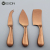 3pcs amazon rose gold stainless steel cheese knife set for Christmas gift