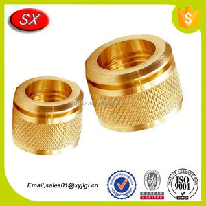 CNC machined part Brass Knurling Inserts brass knurled insert smallest lathe part