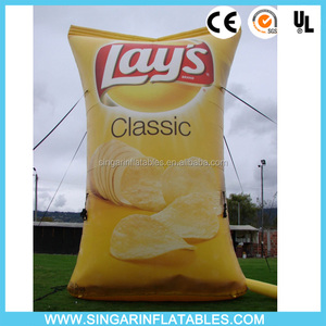 Inflatable replica french fries package products advertising replica for sale