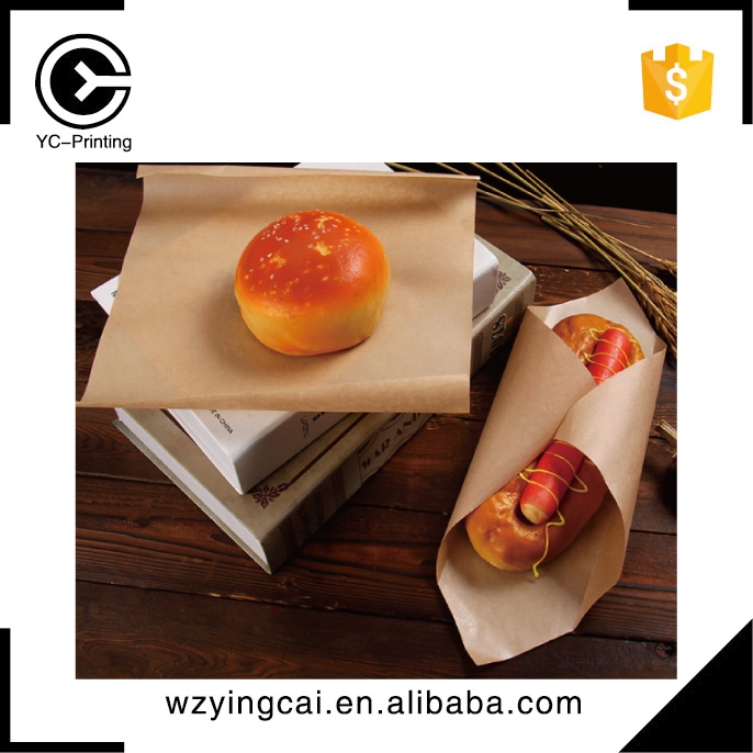 Printed parchment couche colored wax baking paper for food