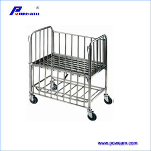 CE, ISO Approved hospital baby cot stainless steel infant bed