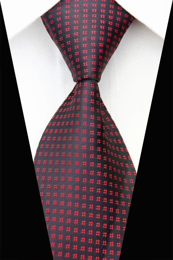c98fb259e56 CON54 Red Gray Blue Orange Geometric Dot Stripe New Classic Silk Woven Neck  Tie Business Casual Knitted Mens Ties Neckties 2014