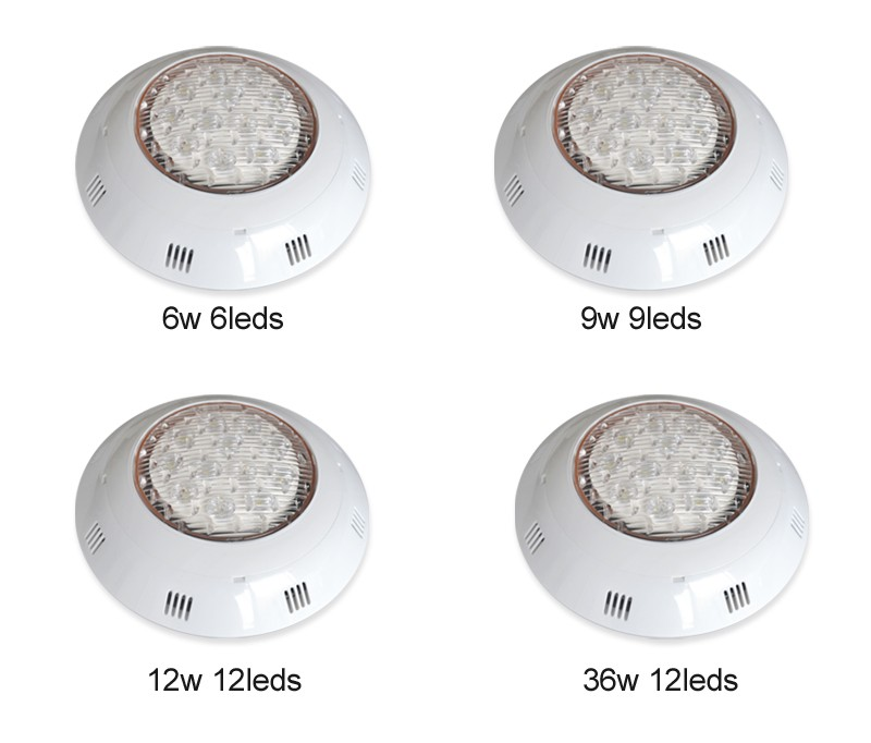 6W Surface mounted submersible led light for swimming pool