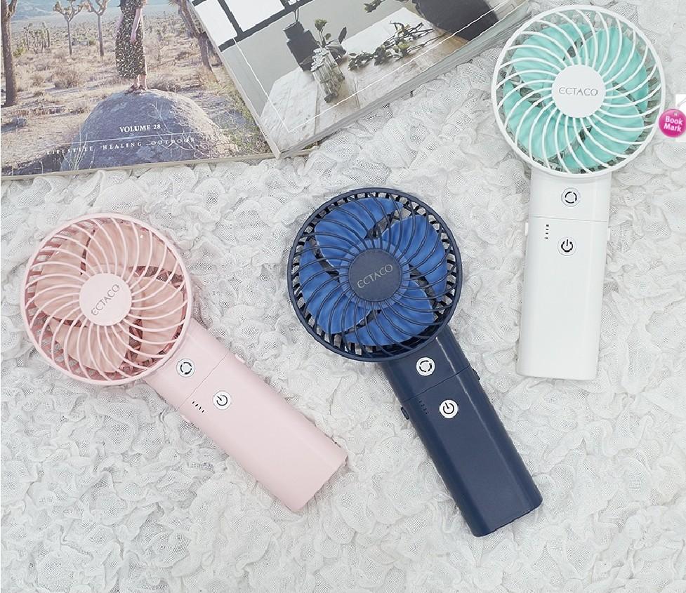 Ectaco turbo Ventilateur Super Silencieux | Modèle Coréen Mini,Puissant Et Rechargeable,Ventilateur Turbo Pratique Avec 5200mah,Batterie